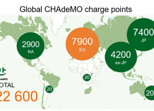 CHAdeMO charge points sept 18